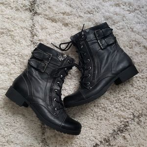 G by Guess Combat Boots -6.5